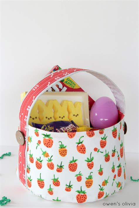 pattern for fabric easter basket ten easter sewing projects sew delicious