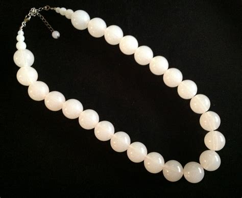 glow in the bead necklaces vintage white moon glow bead necklace