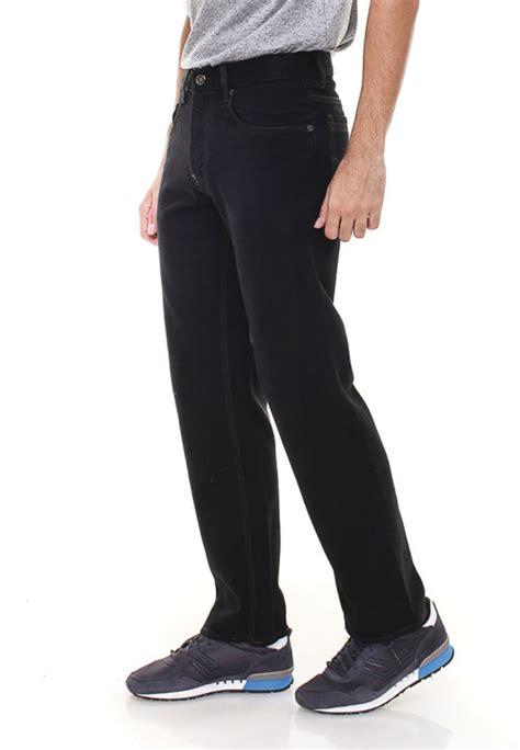 Celana Panjang Priacelana Pria Regular Hitam Pekat regular fit panjang hitam