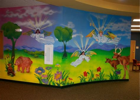 Pictures Of Home Decorations Ideas Church Nursery Custom Murals Kc