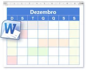 Calendario Word Modelo Calend 225 Calend 225 Em Branco E Para Imprimir