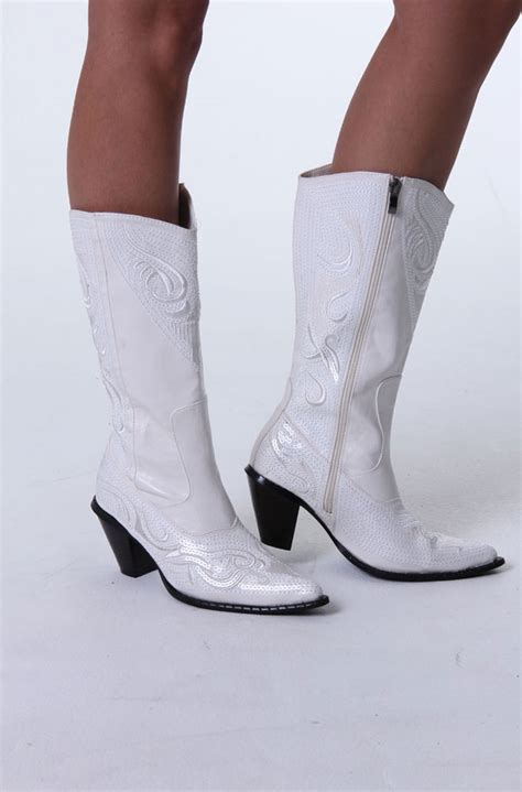 White Wedding Boots by White Western Wedding Boots 10 Days To Ship Western