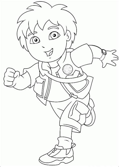 diego coloring pages to print go diego go coloring pages coloringpagesabc com
