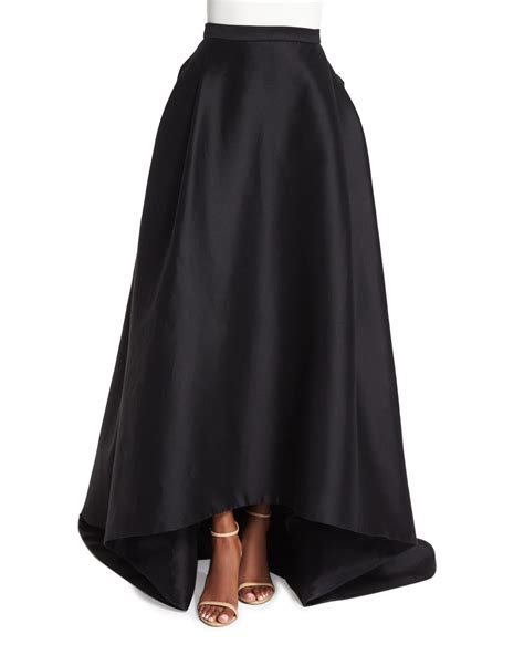 carolina herrera high low skirt in black lyst