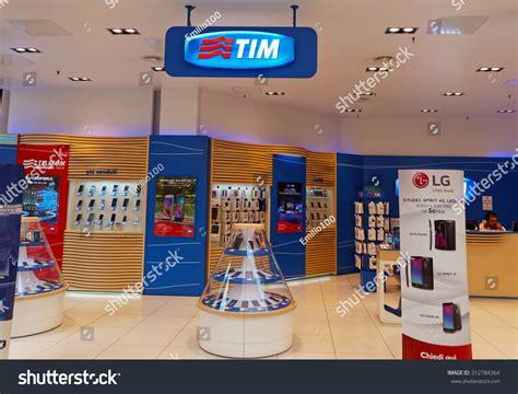 italian mobile operators rome italy september 3 2015 tim shop in rome italy