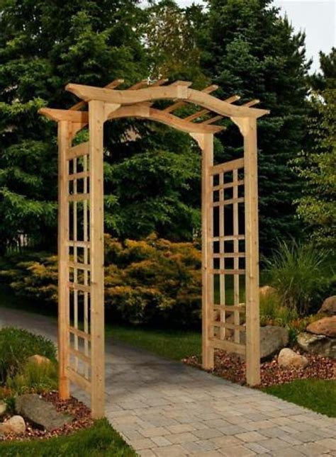 Patio Arbor by New Arbors Decorative Westwood Cedar Garden Patio