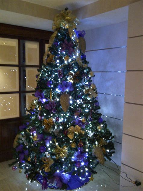 arbol de navidad morado holiday decoration pinterest