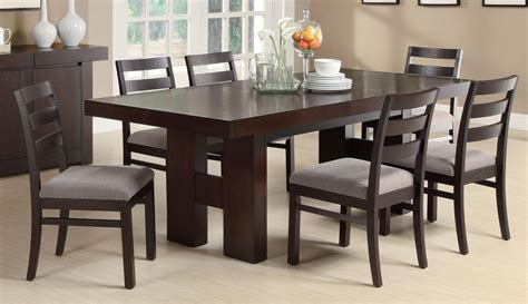 table sets for dining room coaster fine furniture 103101 103102 dabny dining table