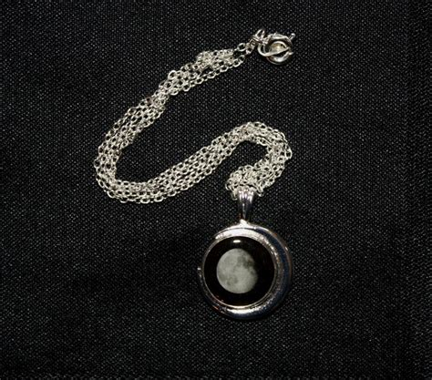 silver plated birth moon pendant special