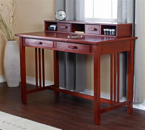 mission style writing desk laptop writing desk solutions for home office
