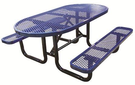 school outdoor furniture oval expanded metal picnic tables outdoor school furniture