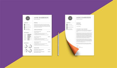 Resume Template And Cover Letter by Free Resume Template And Cover Letter Graphicadi