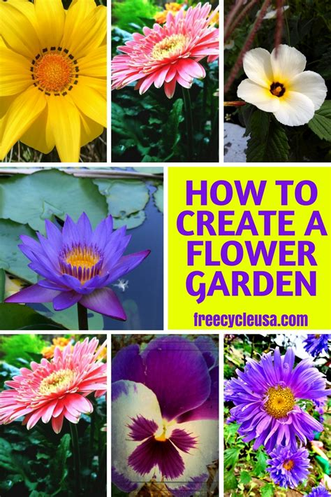 How To Start A Flower Garden How To Create Your Own Flower Garden Freecycle Usa