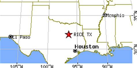 rice texas map rice texas tx population data races housing economy