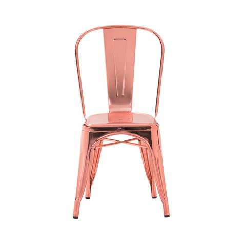 Rose Gold Custom Finish Tolix Chair ? TableBaseDepot