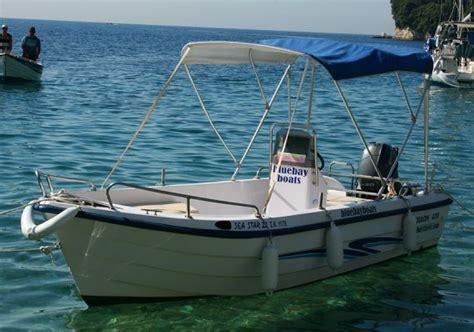 boat hire kassiopi prices seastar 20 corfu kalami boat hire blue bay boats