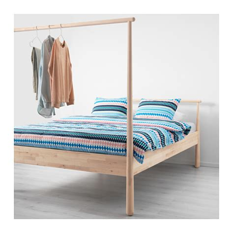 gjora bed hack gj 214 ra bed frame birch lur 246 y standard double ikea