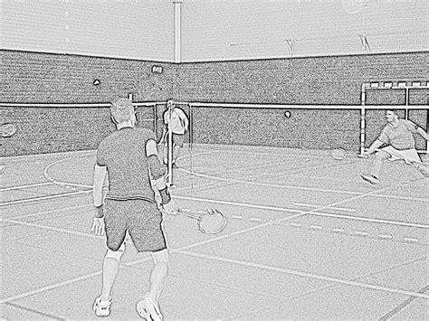 joue club doodle tournoi interne en badminton club de nuaill 233