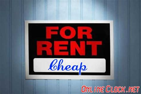 cheapest rent in praise of cheap rent