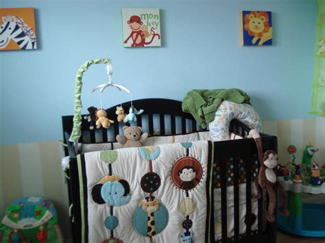 jungle themed nursery bedding sets baby room fair image of baby nursery room decoration with