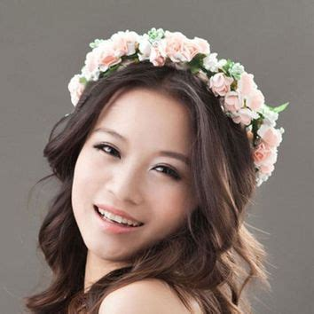 shop floral hair wreath on wanelo