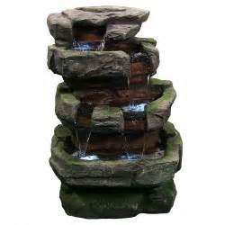 outdoor fountains with lights new large rock quarry water outdoor led lights
