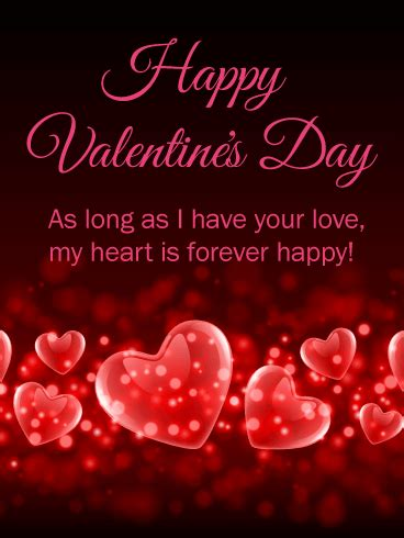 my birthday is on valentines day my is forever happy happy s day card