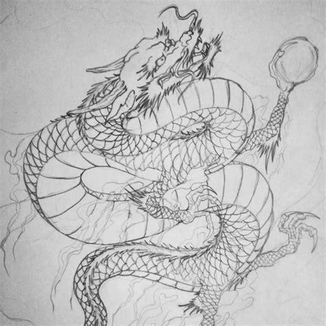 Outline Nime Dragon Japanese Tattoo   Tattooshunter.com