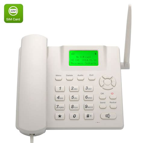 hands free desk phone wireless gsm desk phone quadband sim card sms desktop