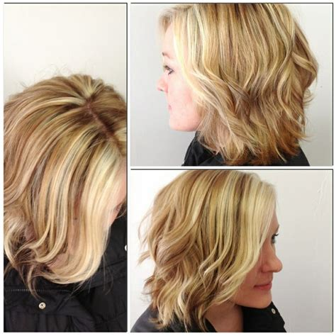 bleach blonde hair with low lights short style short wavy style with platinum blonde highlights and soft