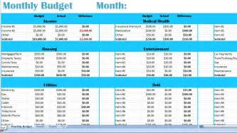 Family Monthly Budget Template Family Monthly Budget Excel Template Money By Beadingwonders