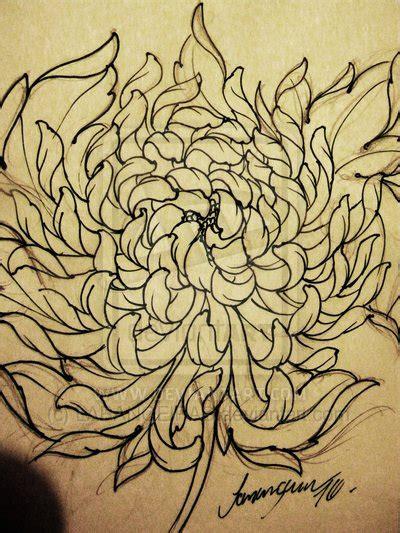 chrysanthemum tattoo designs outline chrysanthemum design