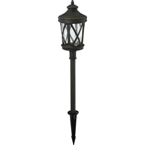 Lowes Led Landscape Lights Shop Portfolio 4 Watt Rubbed Bronze Low Voltage Led Path Light At Lowes