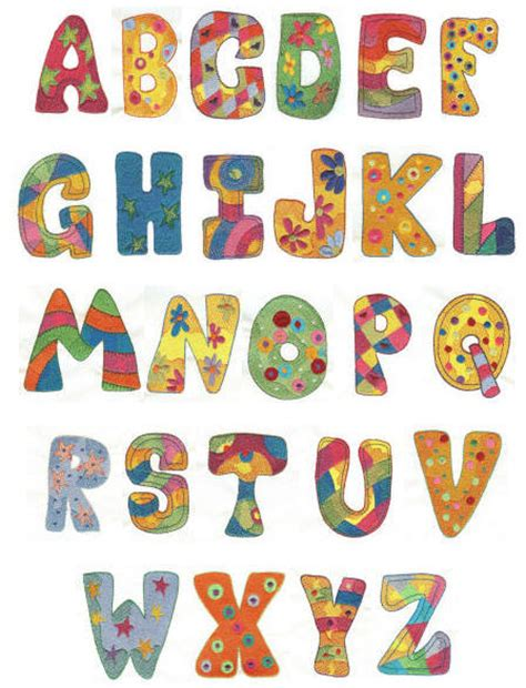 printable alphabet with designs chunky alphabet machine embroidery font designs by juju