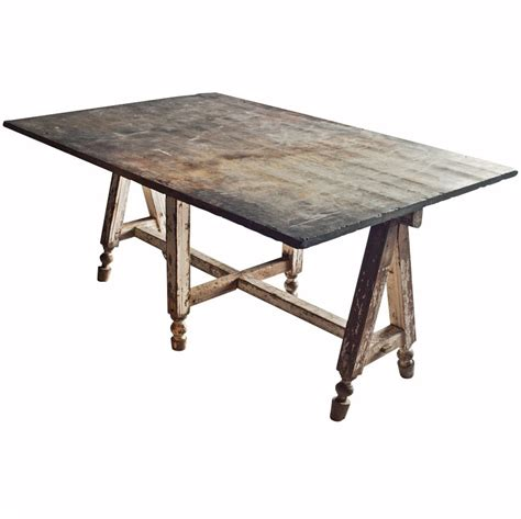 stone top work dining table  stdibs