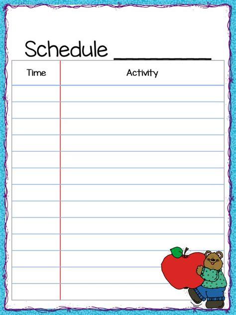 class schedule freebie the teacher s cauldron