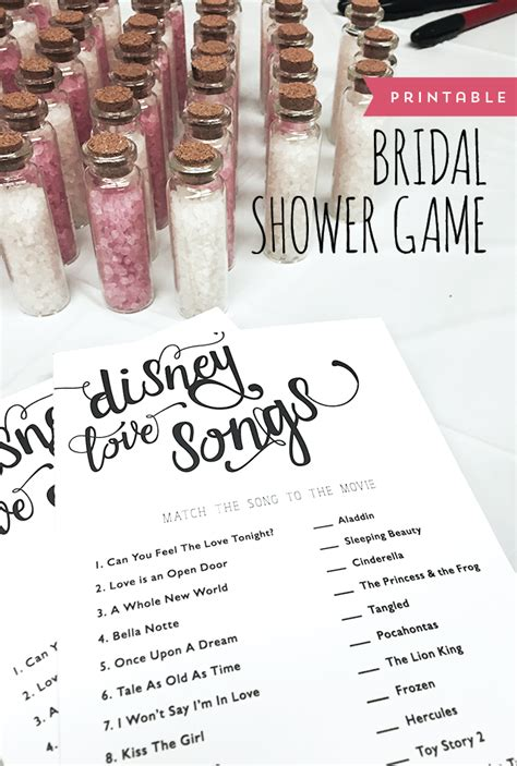 bridal shower game disney love songs designs by miss