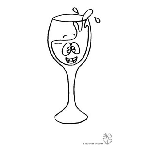 immagini bicchieri di disegno di bicchiere di da colorare per bambini