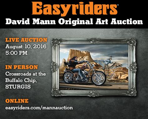 auctioned to the biker books easyriders david mann original auction paisano