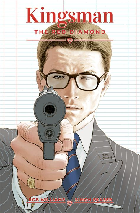 libro kingsman the red diamond jul170678 kingsman red diamond 1 of 6 cvr a quitely previews world