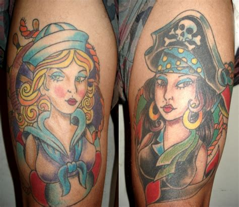 Old School Pinup Tattoo | 25 awesome old school tattoos