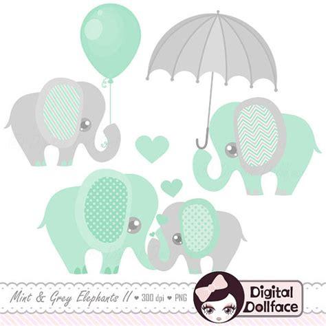 Nursery Name Banner by Baby Elephant Decor Clipart Printable Elephant Baby