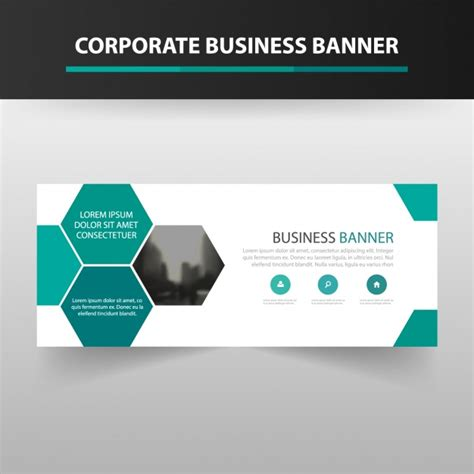 banner template design vector free download