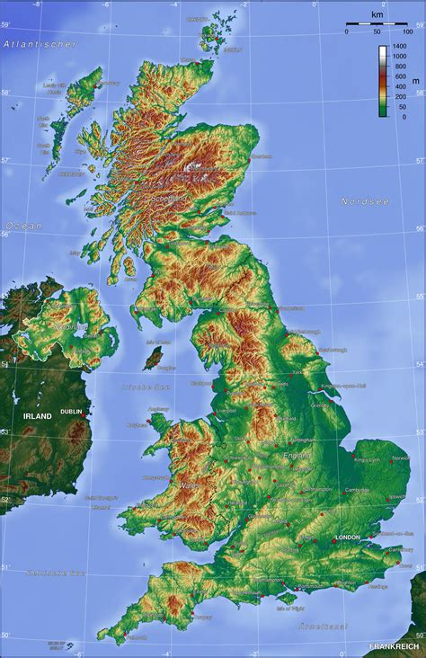 topographic map of map of united kingdom topographic map worldofmaps net
