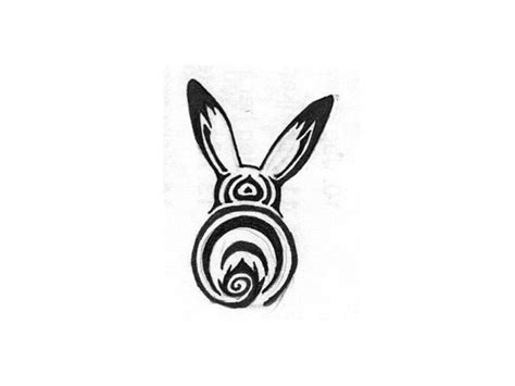 rabbit tribal tattoo designs try a tribal rabbit design