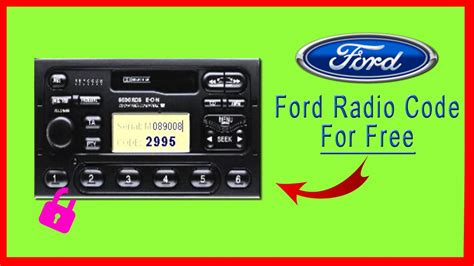 how to get radio code for ford ford radio code get it for free