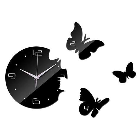 horloge murale stickers 2015 new wall clock diy ciocks quartz acrylic mirror 3d stickers living room europe needle