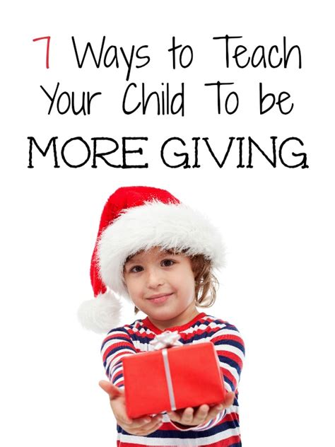 7 Ways To Teach Your About The Holidays by 7 Ways To Teach Your Child To Be More Giving Wanna Bite