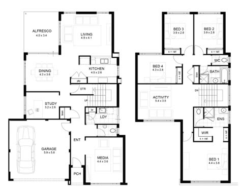 Residential Floor Plans And Elevations by Inspiring Residential House Plans And Elevations At House