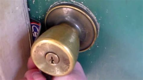 how to unlock a bedroom door without a key how to unlock a door with a credit card or dl youtube